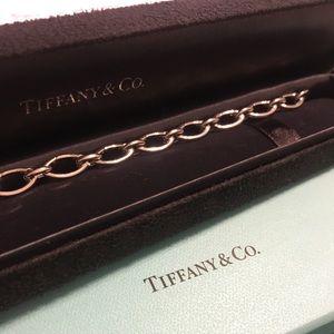 Authentic Tiffany & Co. 18k link clasp bracelet